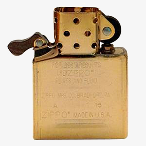 Golden Windproof Lighter Insert