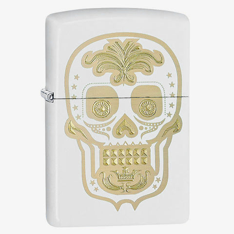 Engraved Skull Lighter