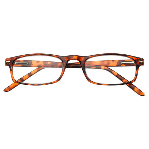 '+2.00 Power Leopard Print Readers with Golden Accents