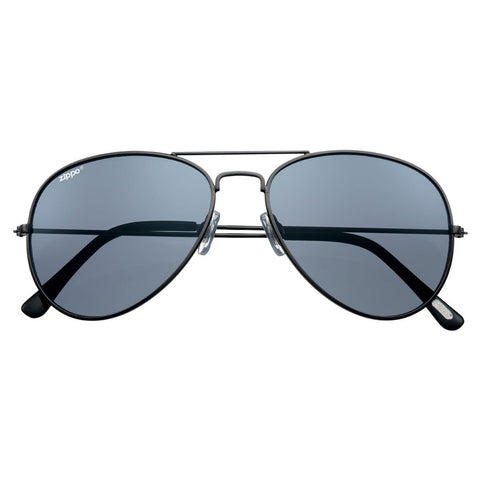 Smoke Flash Aviator Pilot Sunglasses