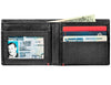 Black Leather Wallet With Zippo 1932 Plate - ID Window inside full