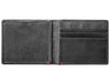 Black Leather Wallet With Zippo 1932 Metal Plate design cash strap inside empty