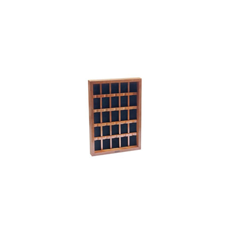 25 Piece Oak Lighter Display Case