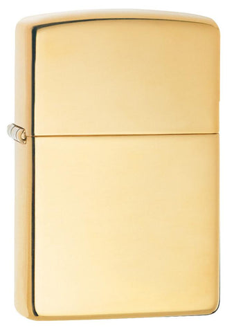 18 Kt. Solid Gold lighter standing at a 3/4 angle
