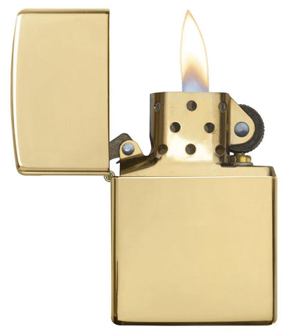 195-001- Solid Gold Windproof Zippo Lighter
