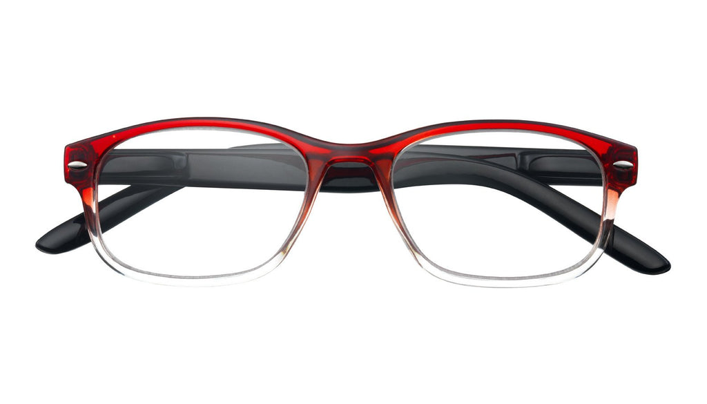 '+3.00 Power Red Washed Readers