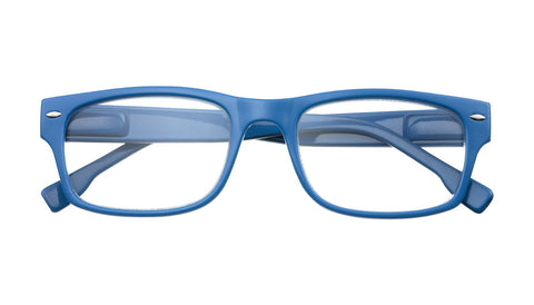 '+3.50 Power Blue with Stripe Accent Readers