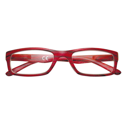 +3.00 Power Red Mahogany Reading Glasses