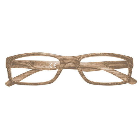 '+1.50 Power Slender Brown Oak Readers