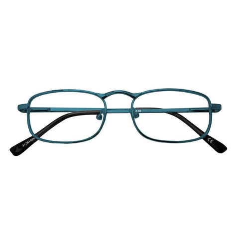 '+2.00 Power Blue Metal Readers