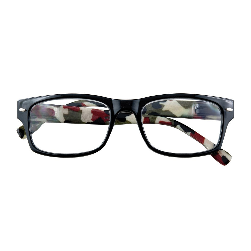 '+2.50 Power Camo Readers with Black Frames