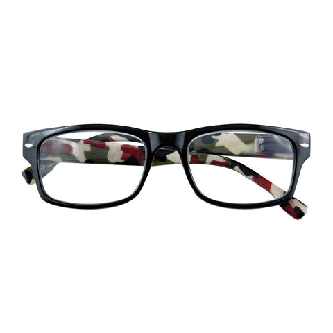+2.50 Power Camo Readers with Black Frames