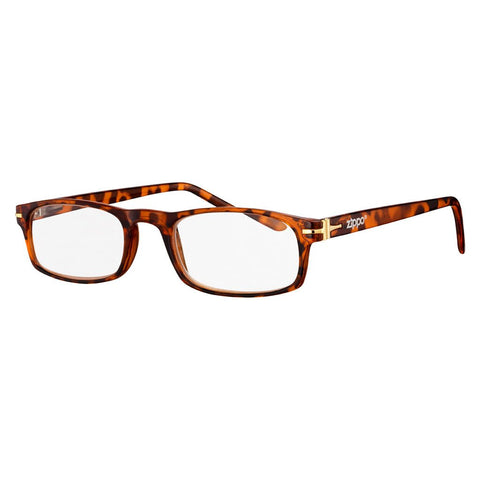 +2.00 Power Leopard Print Readers with Golden Accents