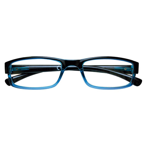 +3.00 Power Blue and Black Rectangular Readers