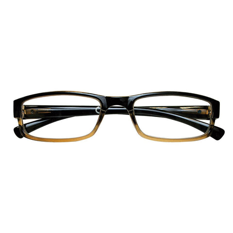 +2.50 Power Black & Brown Rectangular Readers