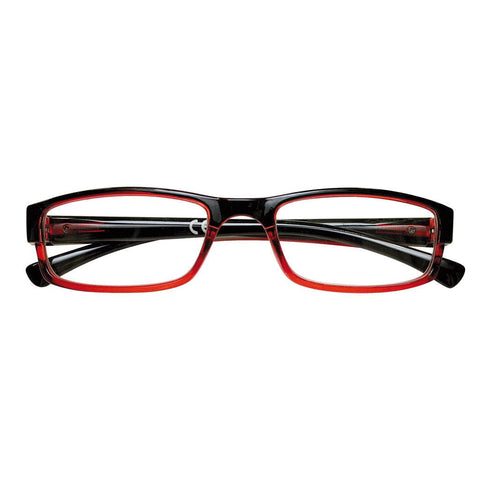 '+1.50 Power Crimson Rectangular Readers