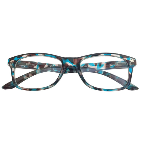 +1.50 Power Blue and Brown Pattern Readers