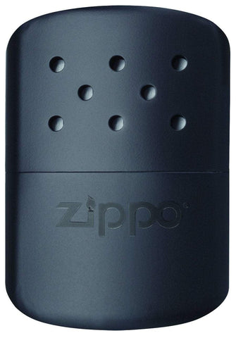 Front of 12-Hour Black Refillable Hand Warmer