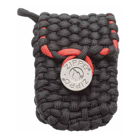 Black and Red Nylon Paracord Pouch