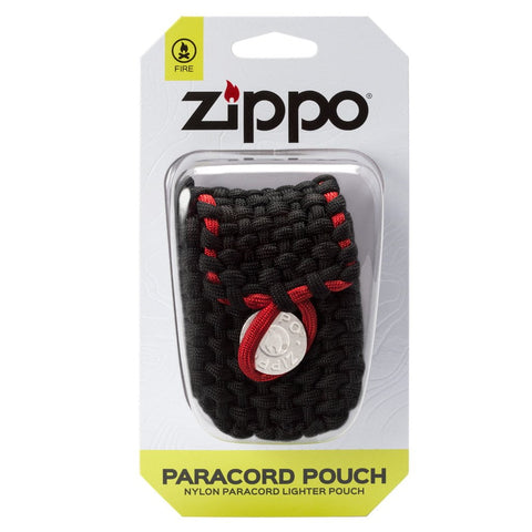 Black and Red Nylon Paracord Pouch packaging