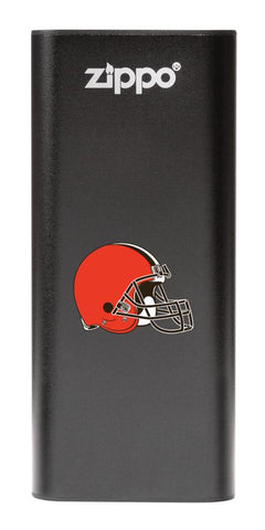 NFL Cleveland Browns: HeatBank 3-Hour Rechargeable Hand Warmer front black
