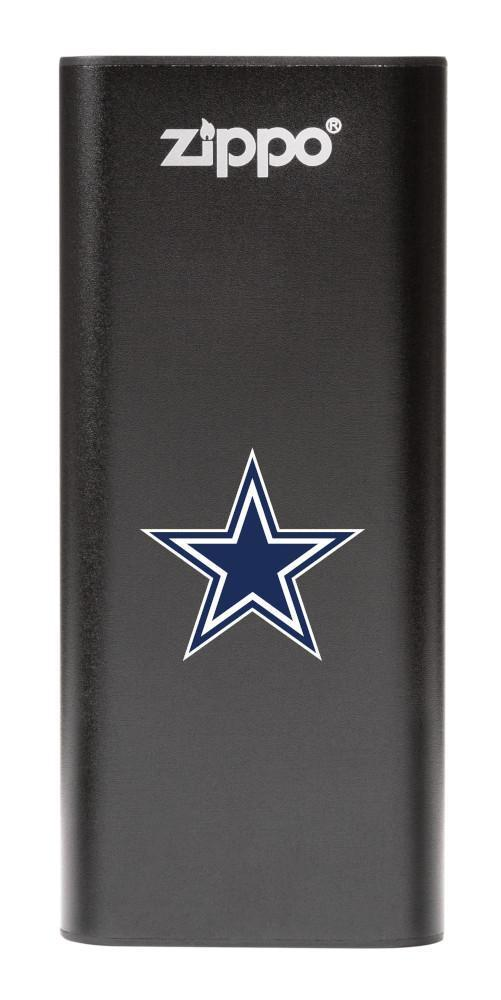 NFL Dallas Cowboys: HeatBank 3-Hour Rechargeable Hand Warmer front black