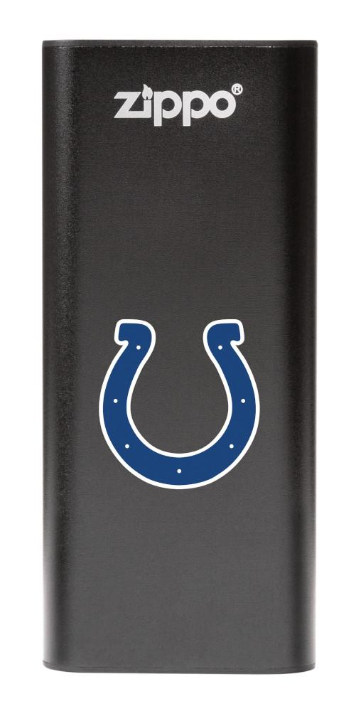 NFL Indianapolis Colts: HeatBank 3-Hour Rechargeable Hand Warmer front black