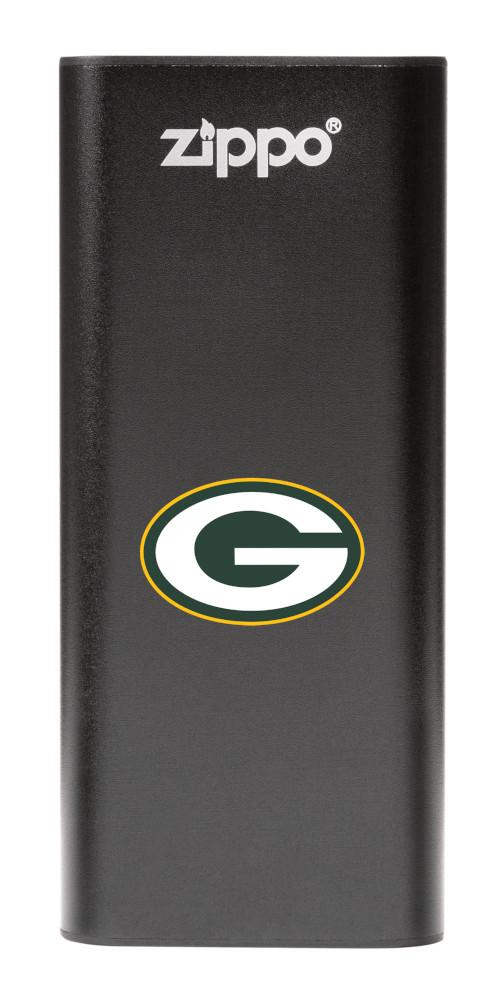 NFL Green Bay Packers: HeatBank 3-Hour Rechargeable Hand Warmer front black