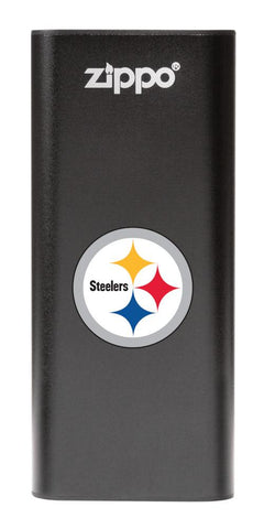 NFL Pittsburgh Steelers: HeatBank 3-Hour Rechargeable Hand Warmer front black