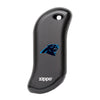 Front of black NFL Carolina Panthers: HeatBank 9s Rechargeable Hand Warmer