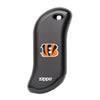 Front of black NFL Cincinnati Bengals: HeatBank 9s Rechargeable Hand Warmer