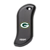 Front of black NFL Green Bay Packers: HeatBank 9s Rechargeable Hand Warmer