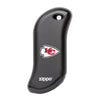 Front of black NFL Kansas City Chiefs: HeatBank 9s Rechargeable Hand Warmer