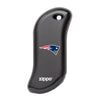Front of black NFL New England Patriots: HeatBank 9s Rechargeable Hand Warmer