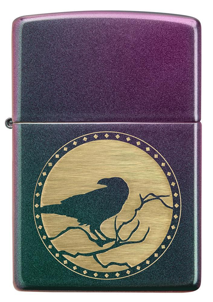 Front of Raven Design Iridescent windproof lighter