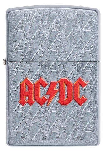 Front of AC/DC Lightning Logo Windproof Lighter