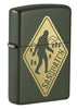 Front shot of Sasquatch Crossing Windproof Lighter standing at a 3/4 angle