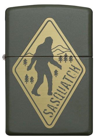 Front of Sasquatch Crossing Windproof Lighter