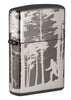 Front shot of Squatchin' In The Woods 360° Design Windproof Lighter standing at a 3/4 angle
