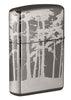 Back shot of Squatchin' In The Woods 360° Design Windproof Lighter standing at a 3/4 angle