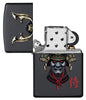 Samurai Helmet Design Windproof Lighter with its lid open and unlit