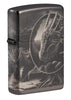 Front shot of Lisa Parker Mythological Design Windproof Lighter standing at a 3/4 angle