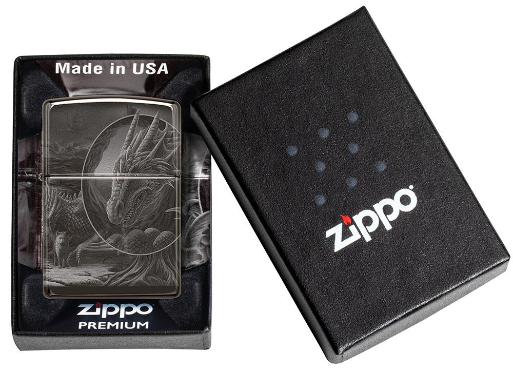 Lisa Parker Mythological Design Windproof Lighter in its premium packaging