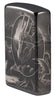 Angled shot of Lisa Parker Mythological Design Windproof Lighter showing the front and right side of the lighter