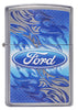 Front of Ford Flame Logo Street Chrome™ Windproof Lighter