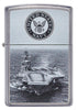 Front of U.S. Navy® Aircraft Carrier Street Chrome™ Windproof Lighter