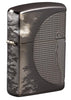 Front shot of Wolf Design Armor® Black Ice® Windproof Lighter standing at a 3/4 angle