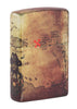 Back shot of Pirate Ship Design 540 Color Windproof Lighter standing at a 3/4 angle