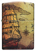 Front shot of Pirate Ship Design 540 Color Windproof Lighter