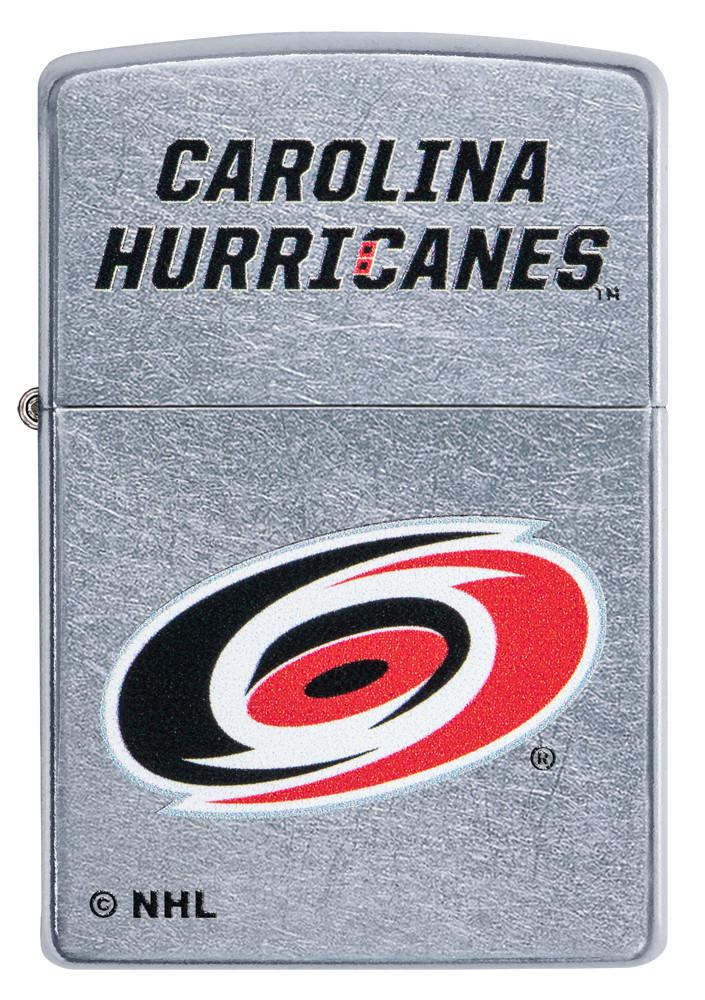 Front of ©NHL Carolina Hurricanes Street Chrome™ Windproof Lighter